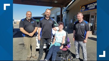 Miracle Van: Car repair shop helps a Boise woman with cerebral palsy after her adapted van broke down