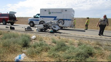 Two people killed in motorcycle crash on Interstate 84 east of Boise