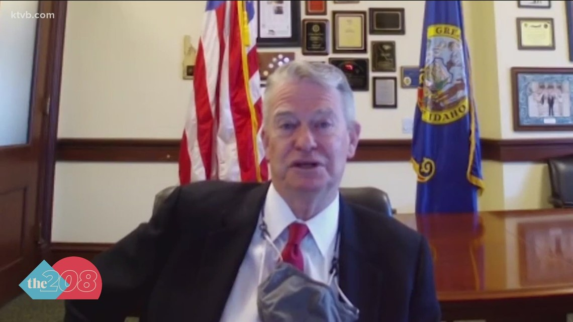 Gov. Little defends pandemic executive action during Idaho Press Club breakfast