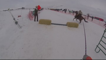 WATCH: GoPro footage from a skijoring race