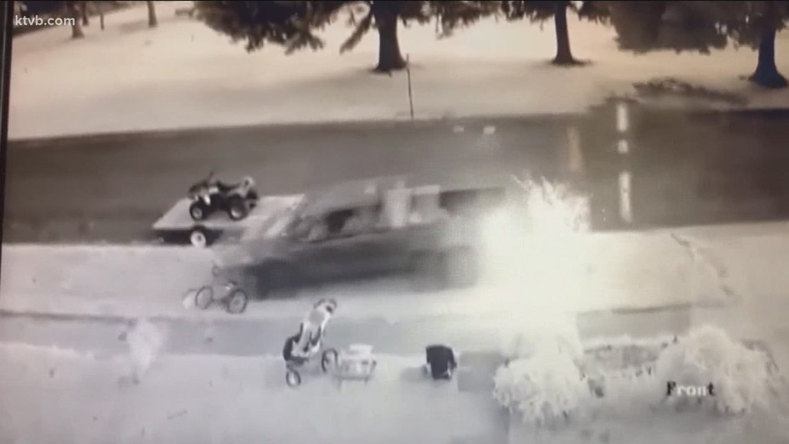 Video shows driver chase boys through Burley park, run over bike