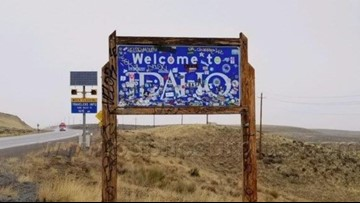 ITD to auction off sticker-covered 'Welcome to Idaho' sign