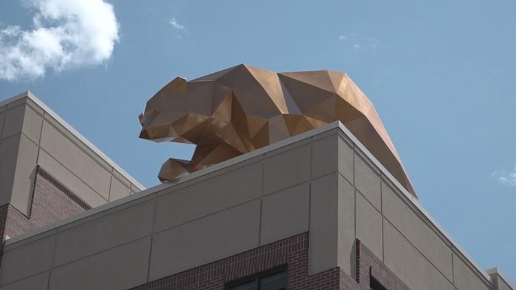 St. Luke's sculpture bear