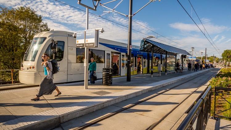 Portland MAX Light Rail Trimet mass transit