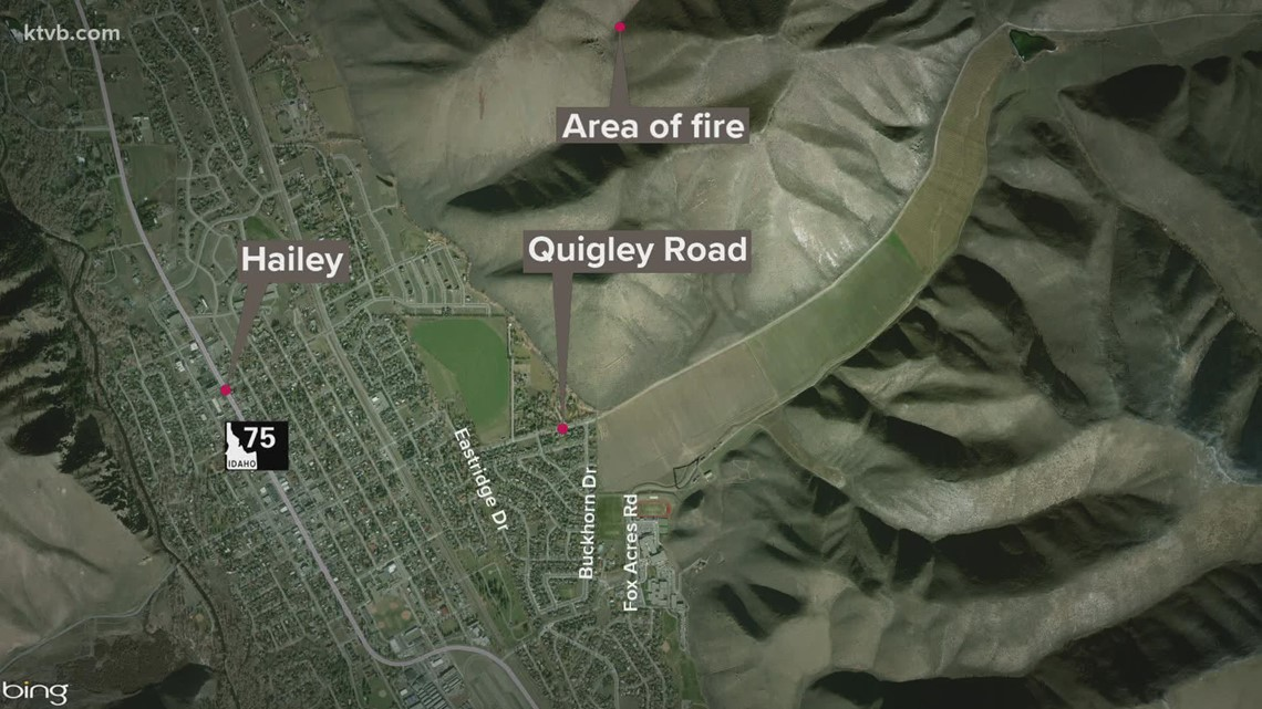 Wildfire burning near Hailey, residents told to prepare to evacuate