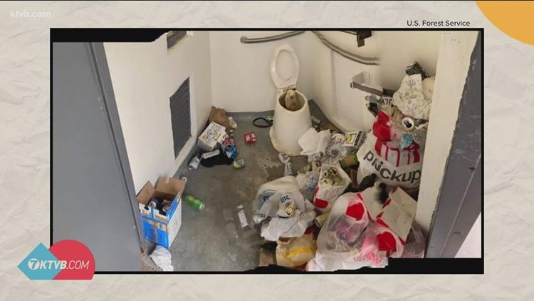 Kirkham Hot Springs bathroom trashed by visitors