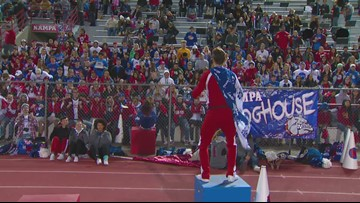"RAW: Nampa student section ""rollercoaster"""