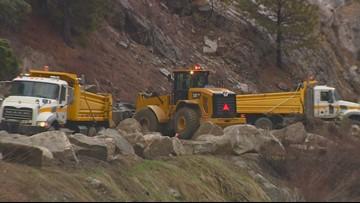 Landslide blocking Idaho 55 between Banks, Smiths Ferry