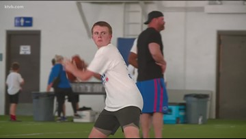 Past Boise State stars hold 10th annual football camp