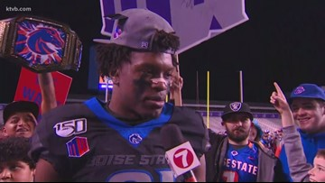 Boise State safety Tyrque Jones talks about being a Mountain West Champion again