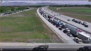Police have man in custody after he crashed his car on I-84, ran away and hid in child's bedroom