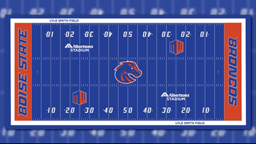 Boise State begins replacing 'The Blue' turf this week