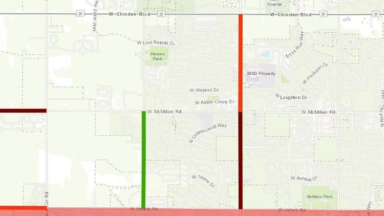 ACHD Roadwork map Linder Road Meridian