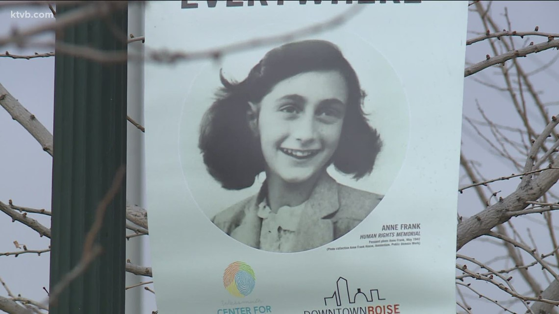 'Love is everywhere' Anne Frank banners line popular Boise streets