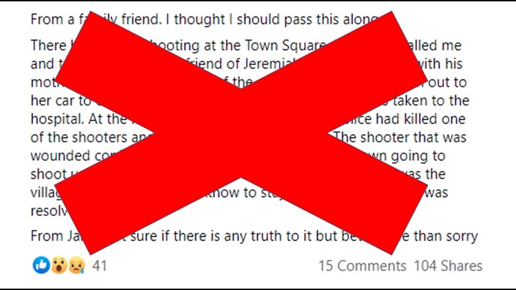 False social media post claims multiple suspects were involved in Boise Towne Square shooting