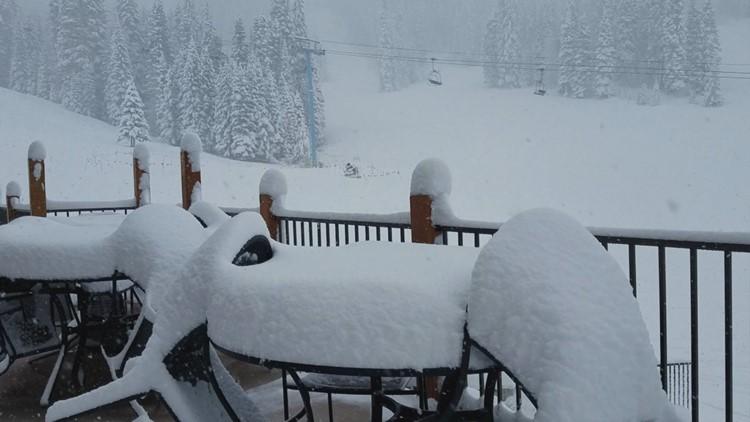 Brundage Mountain snow