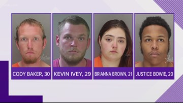 Four suspects arrested after woman stabbed in Boise foothills
