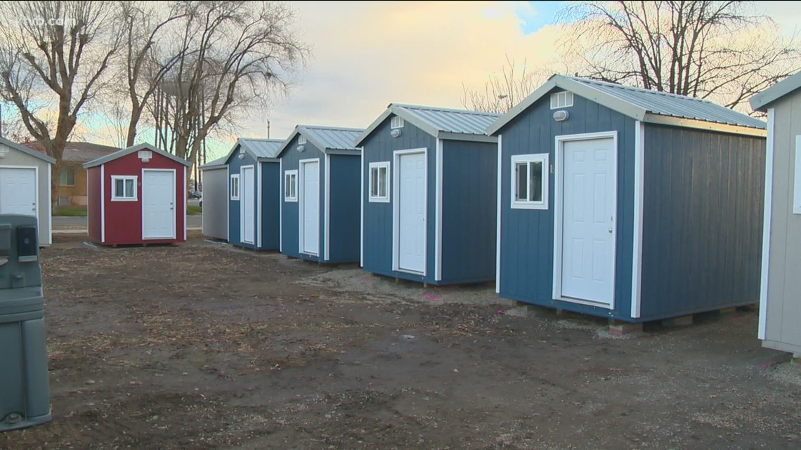 Temporary homes for homeless individuals in Oregon nearing completion