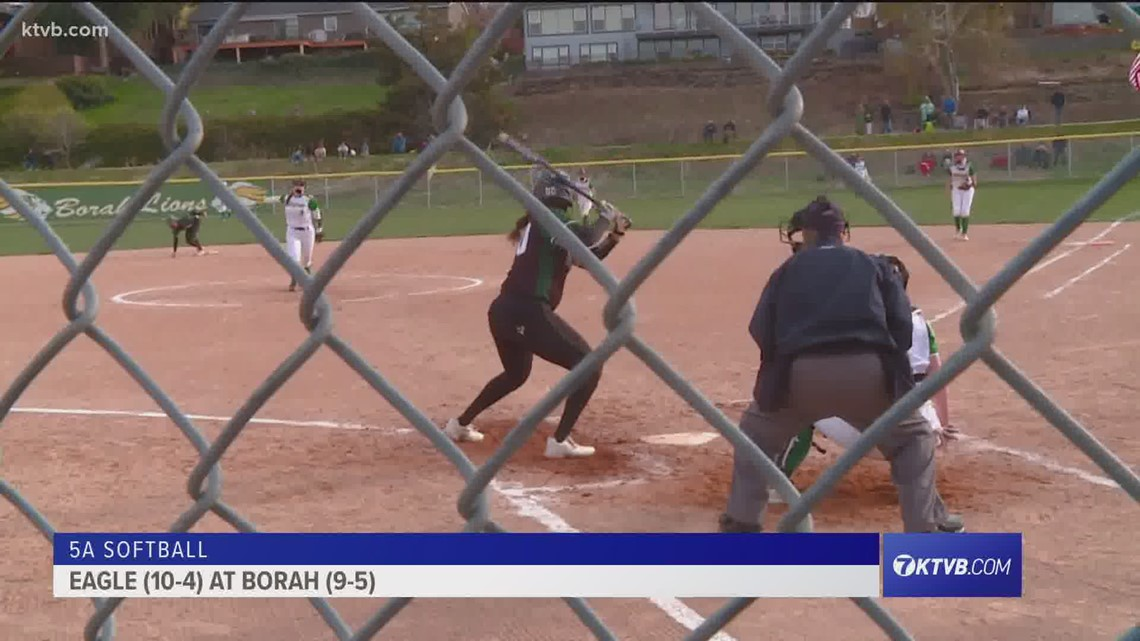 Borah Lions host Eagle Mustangs in 5A softball play