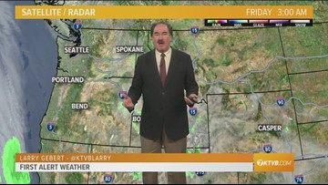 Web weather forecast for Friday, March 22