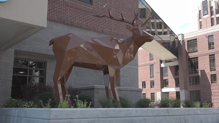 St. Luke's sculptures elk
