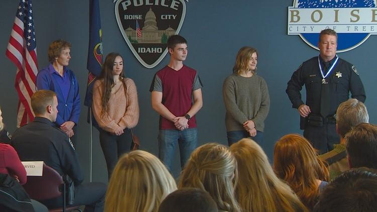 Boise police officer honored