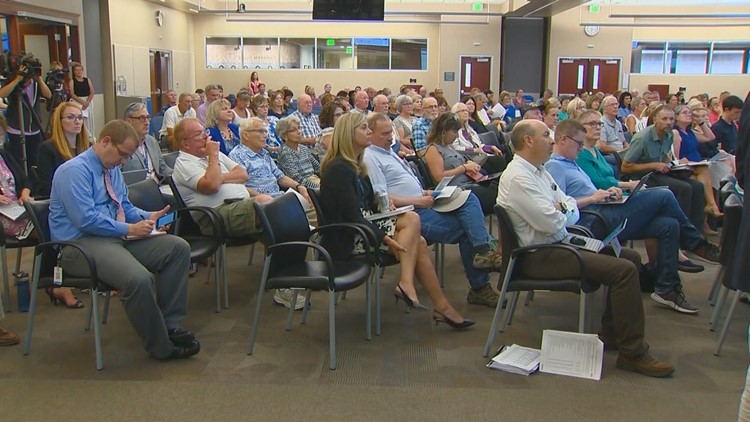 Boise City Hall was packed Tuesday night for an hearing on Prominence subdivision