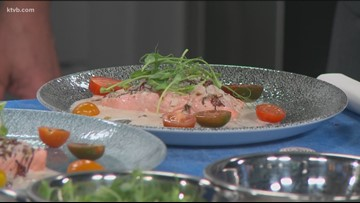 KTVB Kitchen: Chef Bacquet shows how to cook wild king salmon with a sorrel sauce
