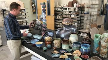 Where's Larry? Fort Boise Center, Pottery Art Sale