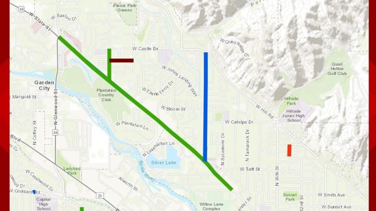 ACHD Roadwork map on State Street
