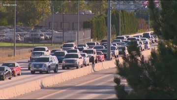 Crashes back up traffic on the Connector in Boise