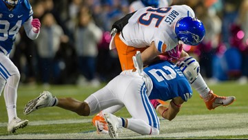 WATCH: Interviews with Boise State coach Bryan Harsin and Bronco players after their 28-25 loss to BYU