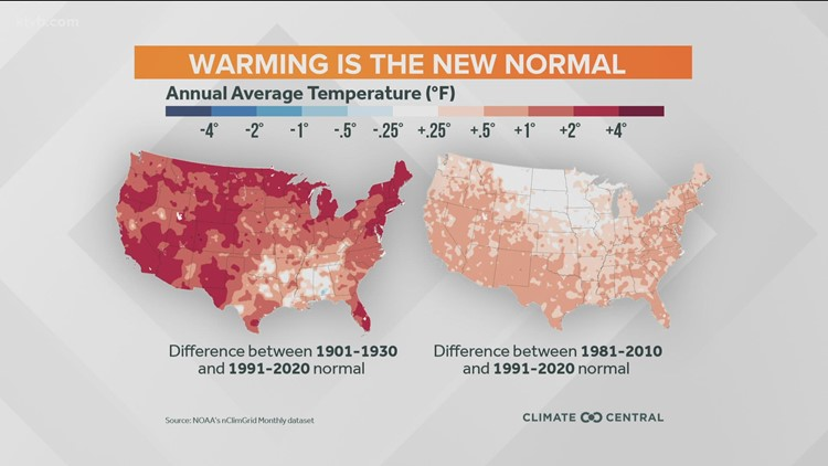 The 'new normal' as it applies to our average weather over 30 years