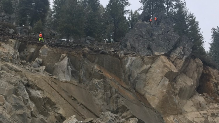 ITD releases cause of massive rockslide on Highway 55