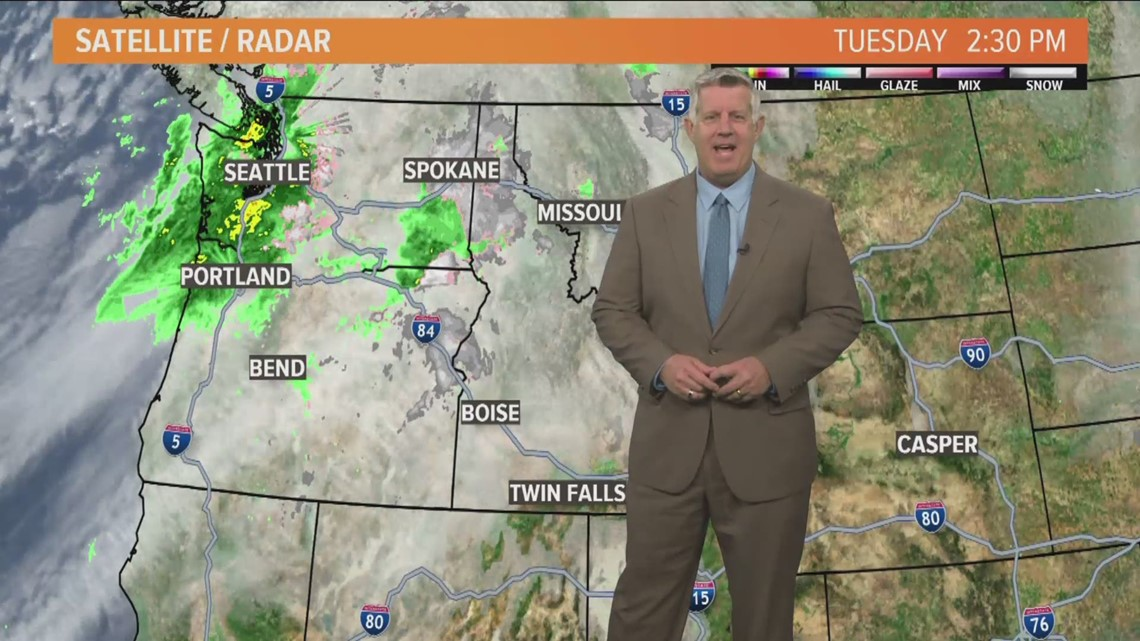 Showers ending and clearing by later today