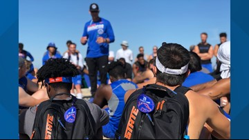 Boise State football completes fall camp with annual Table Rock hike. This year, Dr. Tromp and fans went too