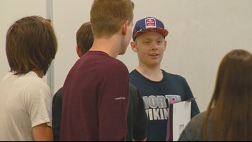 Boise junior high school rallies to support a fellow student who is battling leukemia