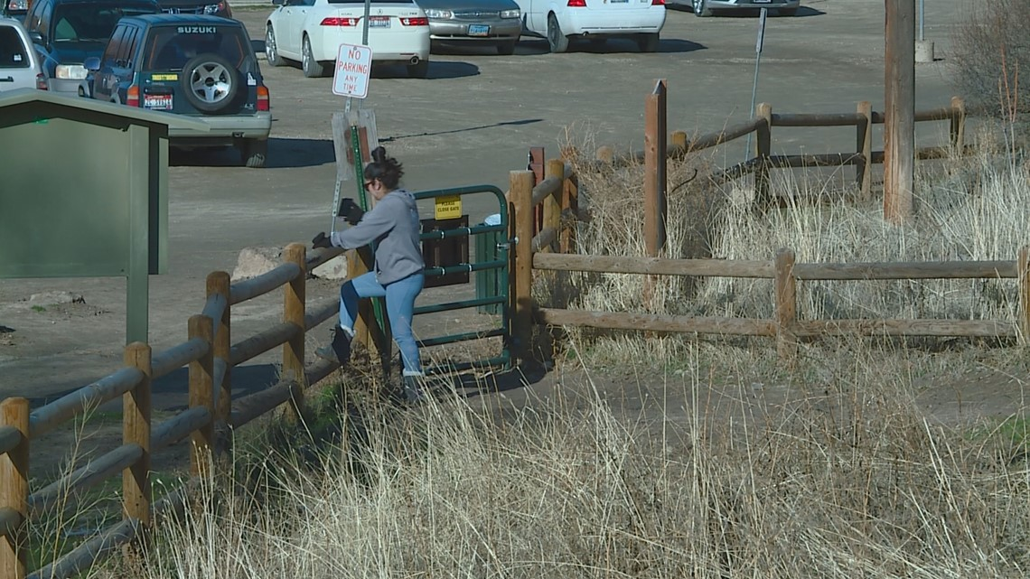 People ignore trail closure signs at Table Rock in the Boise Foothills