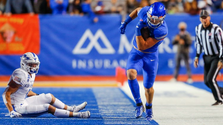Andy Avalos and the Boise State Broncos lose 17-24 to the Air Force Falcons on The Blue
