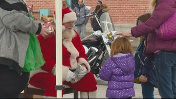Santa stops by Boise to help families in need