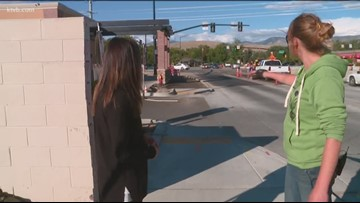 Where the Sidewalk Ends ' Pedestrians and cyclists face hazards at one of Boise's busiest intersections