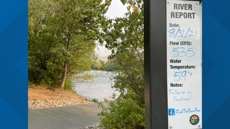 Water levels in the Boise River are very low for this time of the year