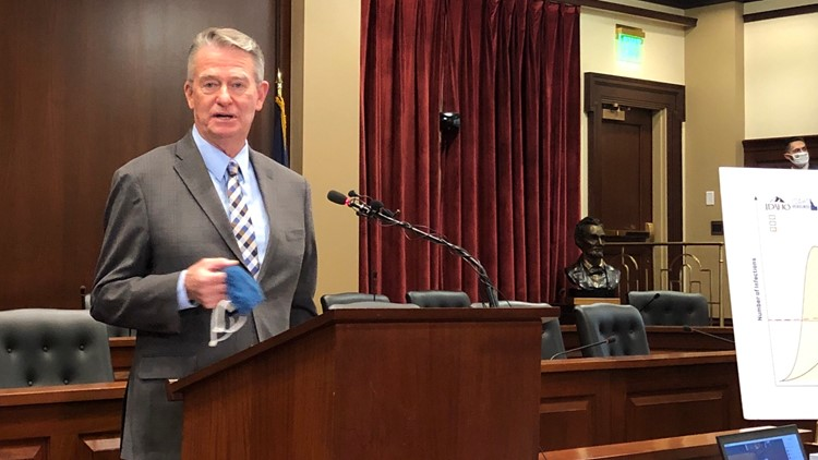 Idaho Gov. Little repeals mask mandate ban, slams lieutenant governor for 'irresponsible abuse of power'