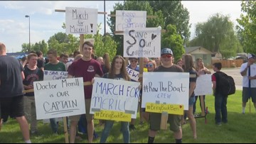 Middleton students march in support of dismissed principal