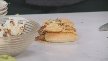 KTVB Kitchen: How to make grilled apple focaccia sandwiches with pumpkin pecan cream cheese