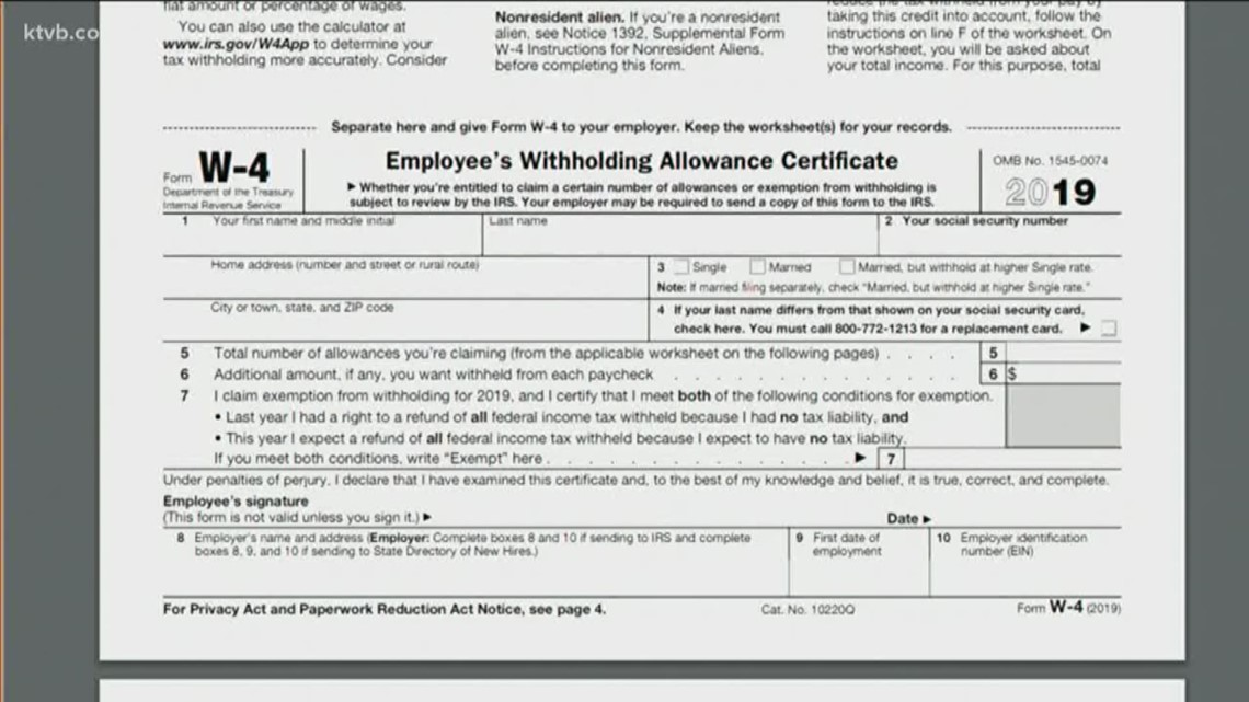 California State W 4 Form 2019 - justgoing 2020