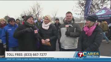 KTVB employees and Tegna Foundation donate over $20,000 to 7Cares Idaho Shares