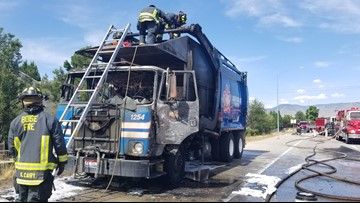 Lanes reopened on I-184 Connector after garbage truck fire