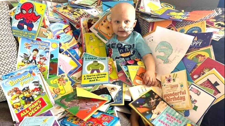 7's HERO: 3-year-old Boise boy battling cancer receives birthday cards from our community