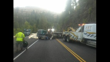 Lumber truck crash causes delays near Council | ktvb com